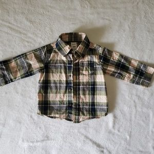 Baby boy plaid buttoned down shirt